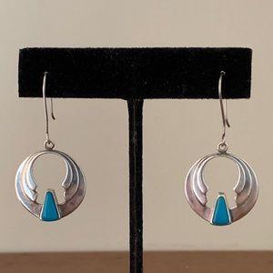 Vintage Sterling Turquoise Southwestern Earrings